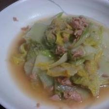 簡単白菜レシピ!白菜とシーチキンの合せ煮