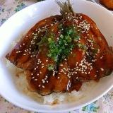 タレが美味しい☆いわしの蒲焼丼