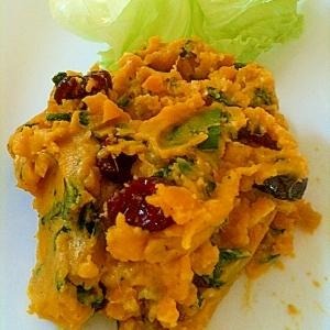 シリコン鍋でデパ地下風カボチャのサラダ