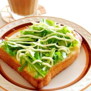 水菜チーズトースト