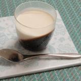 おしゃれに2層♪クリーム&コーヒーゼリー