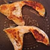 フライパンで作る(^^)鮭カマの塩焼き