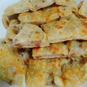納豆とチーズのチヂミ