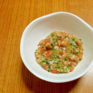【離乳食】しらすと納豆の彩りサラダ
