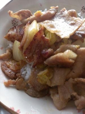 豚肉と白菜の甘辛炒め