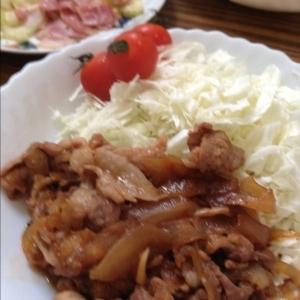 豚コマでOK☆安ウマ 豚のしょうが焼き