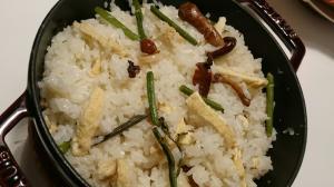 ストウブDe〜山菜おこわ風