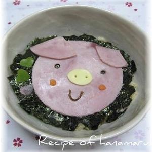 ご飯が好きになります!コブタの生姜焼き豚丼♪