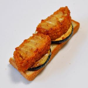 ズッキーニ炒め&コロッケdeトースト