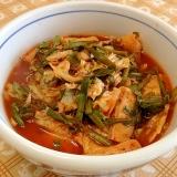 冬には温かい☆キムチ素麺