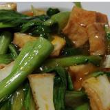 チンゲン菜と厚揚げの豆板醤炒め♪♪