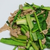 福井の伝統野菜 勝山水菜と豚の炒め物