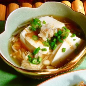豆腐とえのきのとろとろ煮♩(生姜がいい感じ)