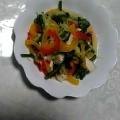 お弁当に!冷凍パプリカと魚肉ソーセージのマリネ♪