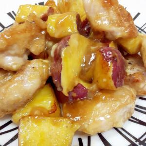 簡単!鶏もも肉とサツマイモの甘辛マヨネーズ焼き♪