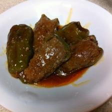 ピーマンの肉詰め☆炒め煮バージョン