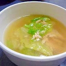 レタスとツナのスープ