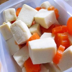 高野豆腐とにんじんの煮物