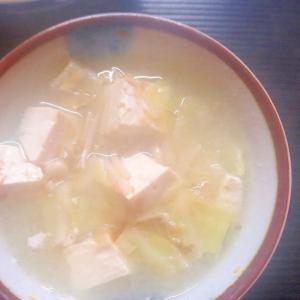 キャベツとエノキの味噌汁