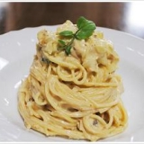 ツナマヨとポテト、茹で卵の冷製スパゲッティーニ