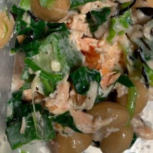鮭とひじき豆!お野菜のツナマヨ和え