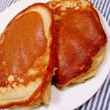 ココナッツオイルと卵1/2個で焼く基本のパンケーキ