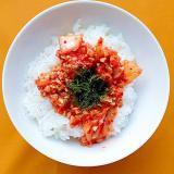 納豆キムチ丼