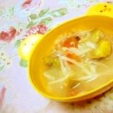 御野菜食べよ❤薩摩芋と人参モヤシのおみそ汁❤