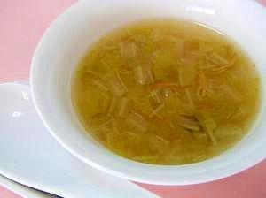 とろとろ白菜の中華スープ