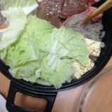 焼き肉の肉で、すき焼き(*^^*)☆