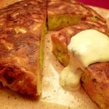 ブランチに☆キャベツと魚肉ソーセージのパンケーキ