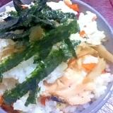 鮭のハラスとゴボウのちらし寿司【食物繊維】