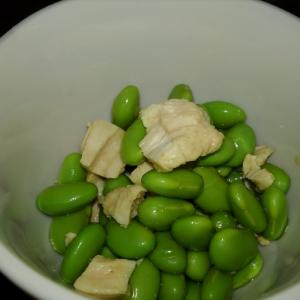 枝豆と鶏肉のしょうが醤油あえ