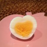 簡単!ハートのゆで卵の作りかた♡
