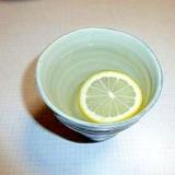 お湯割り焼酎レモン&リンゴ