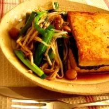 こってりかばやき風☆豆腐ステーキ