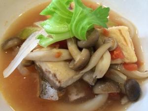 和風でさっぱり サバのトマト煮スープ