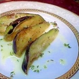 【糖質ゼロ】水茄子のオリーブオイル漬け