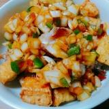 トクワバボイ~厚揚げと豚肉炒め~フィリピン料理