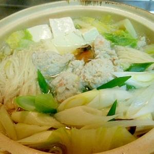 温まろう~☆鶏むね肉とエビの団子鍋★