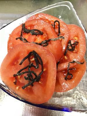 旨味がやばい。塩昆布トマト‼