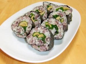 雑穀米を使った竹の子巻き寿司