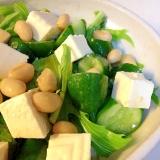 水菜と大豆のサラダ☆