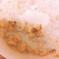 柿寒天と白桃とグラノラの美朝食