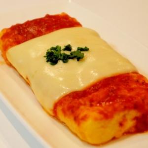 チーズをのせて♪ピザ風厚焼き玉子