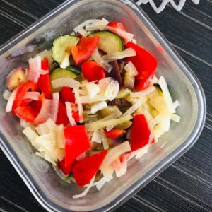 新玉ねぎと焼き夏野菜のマリネ