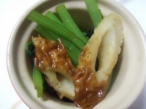 小松菜と竹輪のさっと炒め