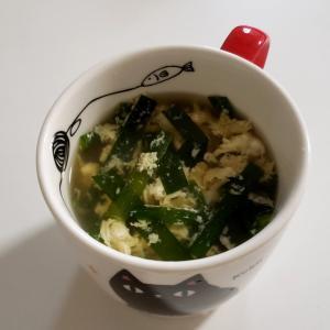 ニラ玉子スープ