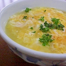 コンソメ卵スープ