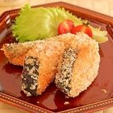 ボリューム満点…❤鮭のパン粉焼き